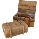 wholesale Garden & DIY store: Harvey wooden box, set of 2, L50 / 44cm, natural